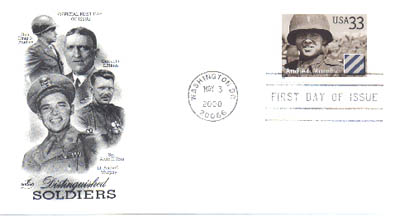 May 3, 2000 Audie Murphy Stamp Cancellation and First Day Cover.