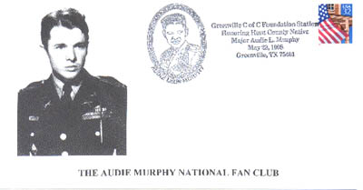 May 23, 1998 Audie Murphy Stamp Cancellation.