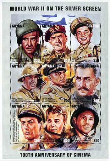 Guyana stamp honoring Audie Murphy issued 1995.