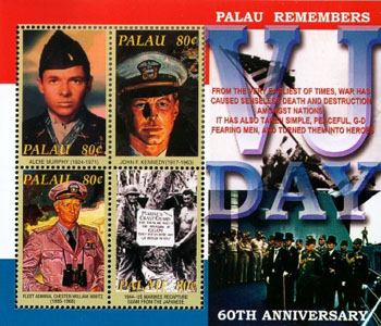 Palau stamp honoring Audie Murphy issued in 2001.