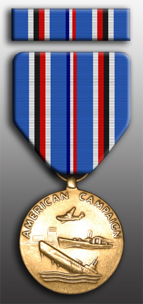 American Campaign Medal and Ribbon Set