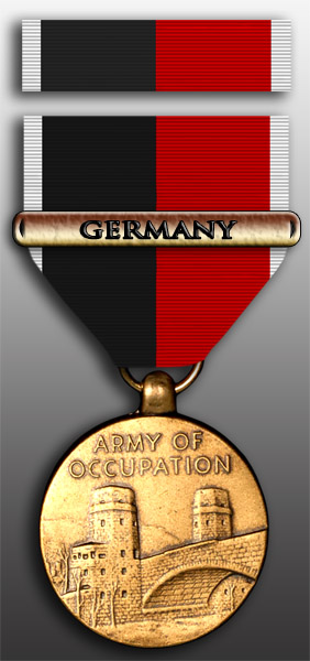 Army of Occupation Medal With Germany Clasp and Ribbon Set