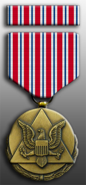 Army Outstanding Civilian Service Medal and Ribbon Set