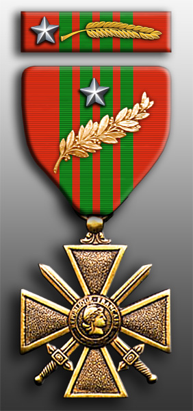 French Croix de Guerre With Silver Star