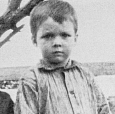 A childhood photo of Audie Murphy