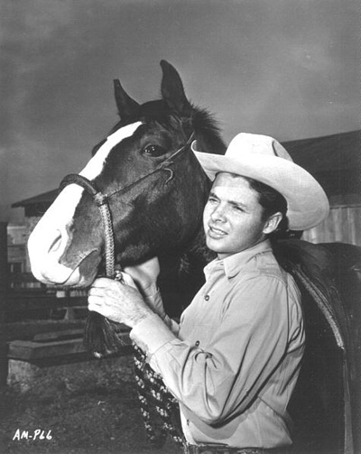 A horse photo with Audie Murphy