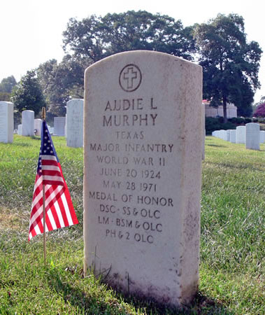 headstone of audie l murphy arlington national cemetery photo by maria a rodgers