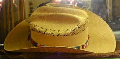 A western style straw hat worn by Audie Murphy in one of his movies.