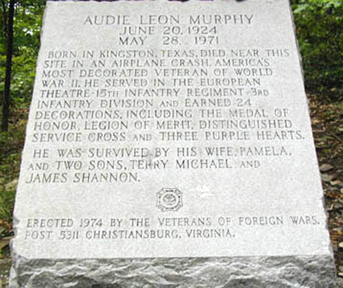 Audie Murphy Memorial. Photo provided by Fred Davis.