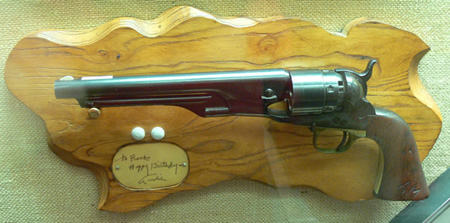 James Cagney gift pistol given to Audie Murphy.