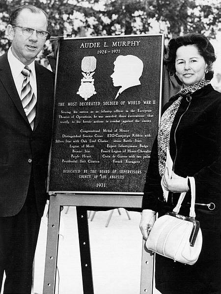Patriotic Hall dedication ceremony. Supervisor Kenneth Hahn and 