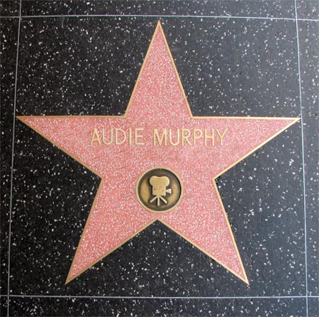 Audie Murphy's Walk of Fame Star, Hollywood, California.