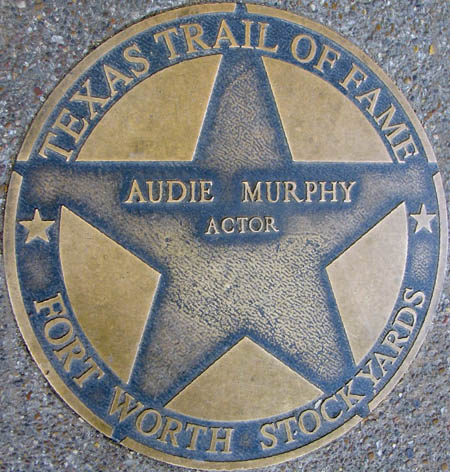 Audie Murphy's Trail of Fame Star, Fort Worth, Texas.
