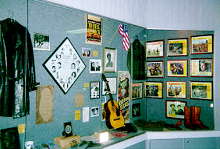 Audie Murphy display, Willie Nelson & Friends Showcase Museum.