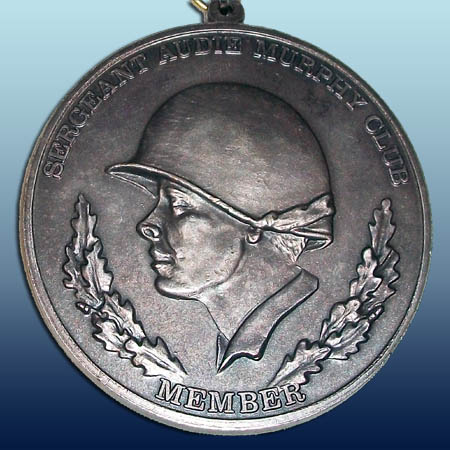 FORSCOM Sergeant Audie Murphy Neck Medallion. Front view. Image provided by George Keck.