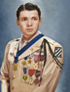 Audie Murphy painting, copyright 2010, Dave Phillips. Used with permission.