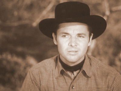 THE BLIND GUN photo from Audie Murphy's television series WHISPERING SMITH
